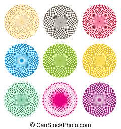 Optical illusion-Vector EPS