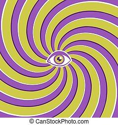 optical illusion with eye.