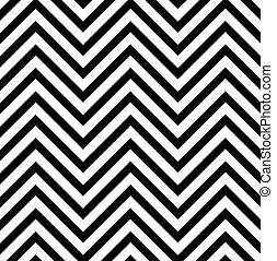 Optical illusion with zig zag lines