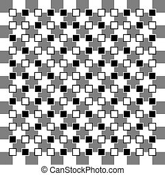 Optical illusions - Illusion of non parallel squares are...