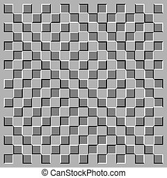Optical illusions - Squares are in movement