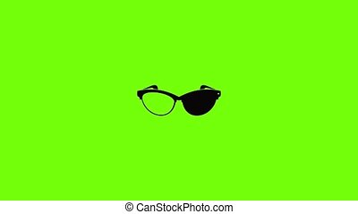 Optical lens icon animation best simple object on green screen background