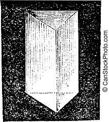Optical prism vintage engraving