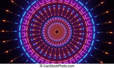 Artistic Illusional Circle Portal 4k uhd 3d rendering vj loop