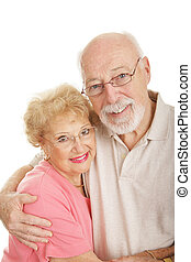 Optical Series - Happy Senior Couple - Happy seniors wearing...