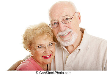 Optical Series - Seniors Closeup - Senior couple wearing...