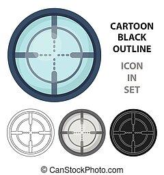 Optical sight. Paintball single icon in cartoon style vector symbol stock illustration web.
