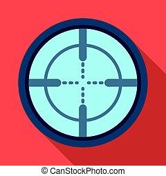 Optical sight. Paintball single icon in flat style vector symbol stock illustration web.