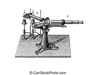 Optical spectrometer or spectroscope, vintage engraving XIX century