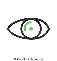 Optician - Eye, optical, eyesight icon vector image. Can ...