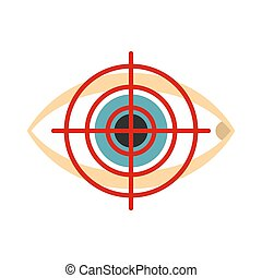 Optician icon, flat style
