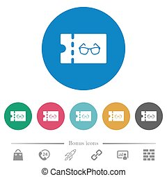 Optician shop discount coupon flat round icons - Optician...