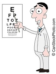 Optician with chart