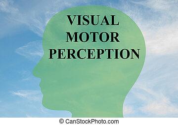 optický, motor, vnímání, pojem