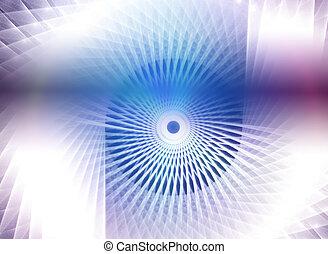 optics., 抽象的, 青, 技術的である, sug, デザイン, 繊維, 背景