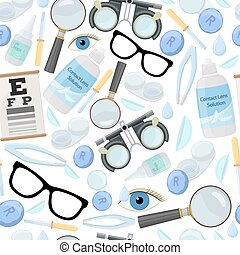 Optics and visual acuity - Seamless pattern of medical ...