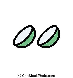 optics flat color icon