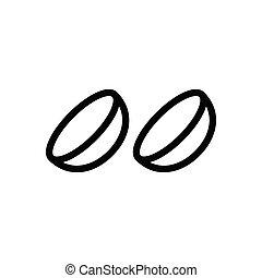 optics thin line icon