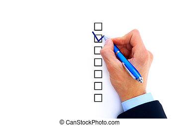 opties, kies, een, drie, hand