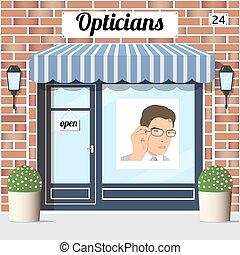 optiker, shop.