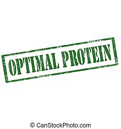 Optimal Protein-stamp - Grunge rubber stamp with text ...