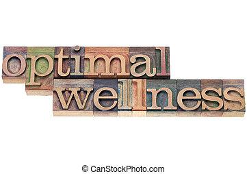 optimal, wellness, 中に, 木, タイプ