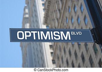 Optimism boulevard plaque