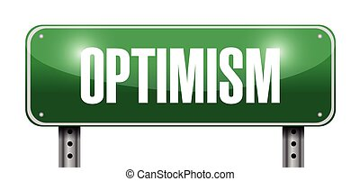 optimism street sign illustration