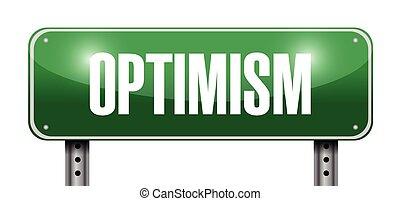 optimism street sign illustration