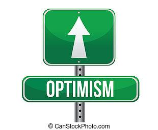 optimist road sign illustration design