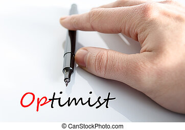 Optimist Text Concept - Optimist text concept isolated over...