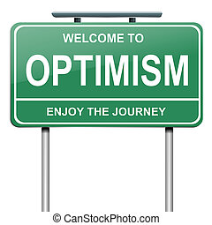 Optimistic concept. - Illustration depicting a green...