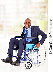 optimistic disabled african businessman - optimistic...