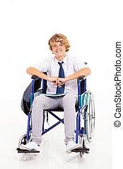 handicapped high school student