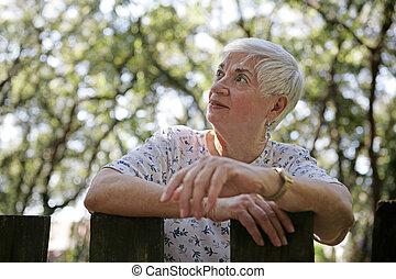 Optimistic Senior Lady