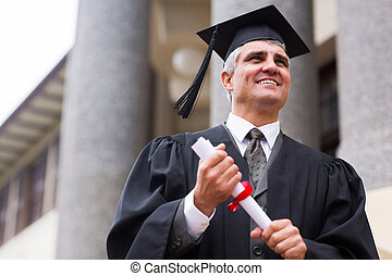 optimistic senior university graduate