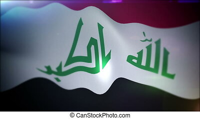 """Optimistically Flapping Flag of Iraq "" - ""Impressive 3d..."