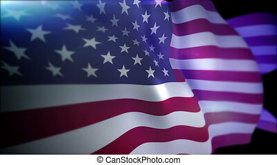 """""""Optimistically Fluttering Flag of the USA"""" - """"Gorgeous 3d..."""