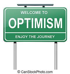 optimistisch, concept.