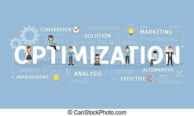 Optimization concept illustration.