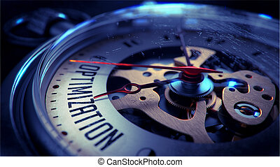 Optimization on Pocket Watch Face. Time Concept. -...