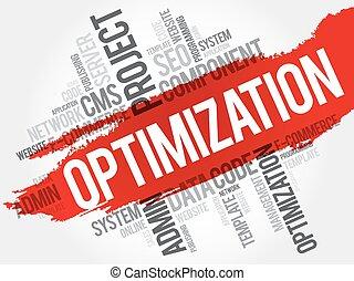 OPTIMIZATION word cloud