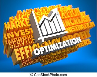 Optimization. Wordcloud Concept. - Optimization with Growth...