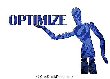 optimize, texto, ilustración, modelo