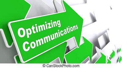 optimizing, communications., concept., affari