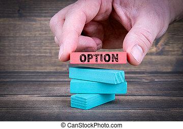 option., 概念, ビジネス