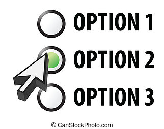 Option 1 2 or 3 selection