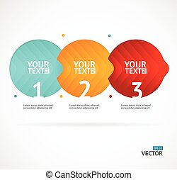 Option banner infographic concept empty. Vector