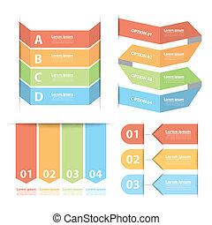 Option banner infographics set