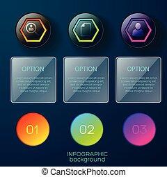 Option Circles Pictogram Background